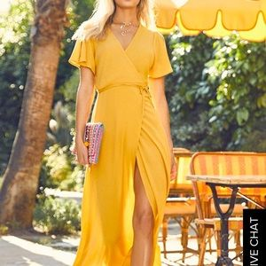 Much Obliged Yellow Maxi